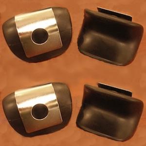 4 REGULAR Size Heel Cushions & 4 Metal Holders