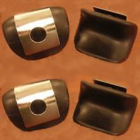 4 heel cushions with metal heel holders for various inversion tables.