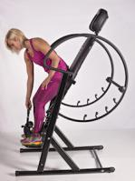 Health Mark Pr Max Inversion Table in use by women