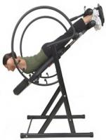Health Mark Pro Max Inversion Table in use face down by women