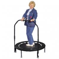 women using black Needak Rebounder with stabilizer bar